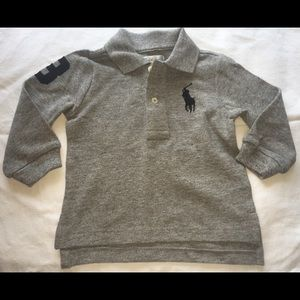 NWT Boys - Ralph Lauren Long Sleeve Polo- 9 months